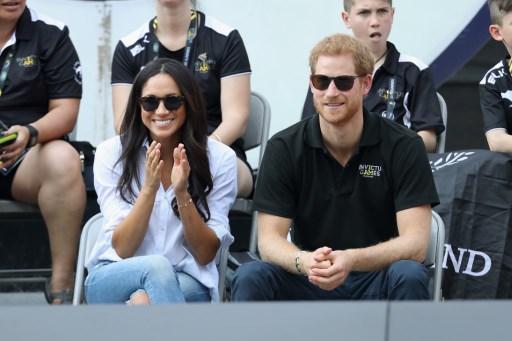 Príncipe harry y su novia en Canadá