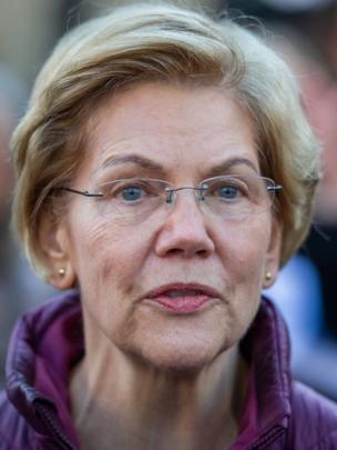 """""""Las mujeres deberán esperar cuatro años más"""", dijo Warren al anunciar su retiro. (Foto Guatevisión: Agence France-Presse)"""