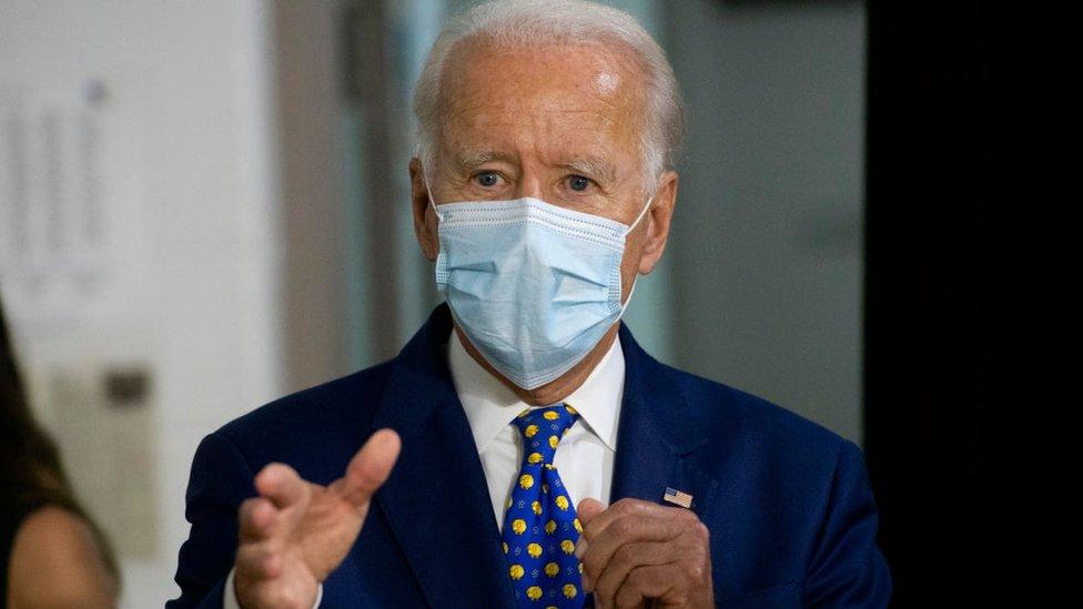 Getty Images Joe Biden ganó oficialmente la nominación demócrata el martes en la Convención Nacional del partido.