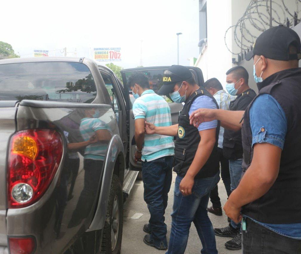 Detenidos PNC