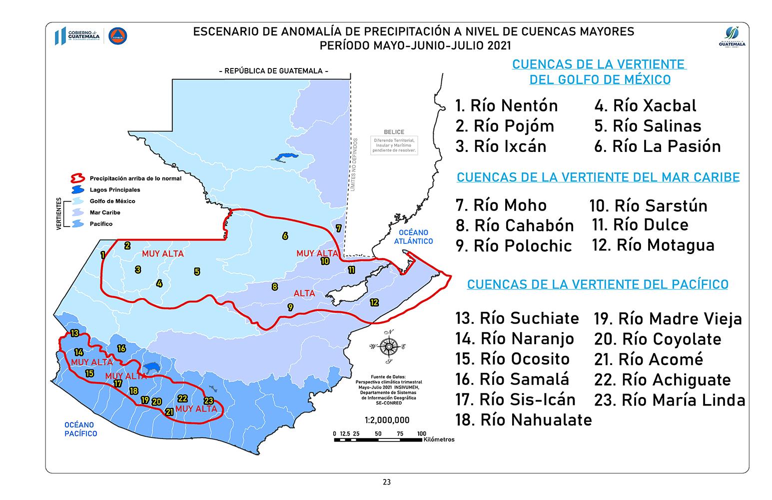 Imagen ilustrativa temporada de lluvias en Guatemala